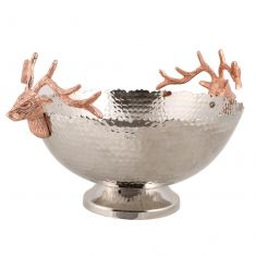 Hammered Copper Stag Head Bowl