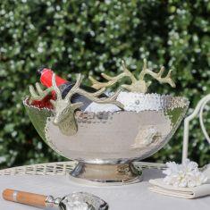Gold Stag Head Decorative Bowl