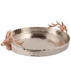 Hammered Copper Stag Serving Tray
