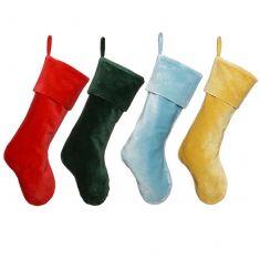 Soft Cotton Velvet Christmas Stockings