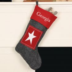 Personalised Nordic Style Star Christmas Stocking