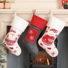 Festive Fun Scandi Mantlepiece Christmas Stockings