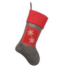 Nordic Style Snowflake Christmas Stocking