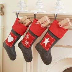 Red Nordic Stocking Collection