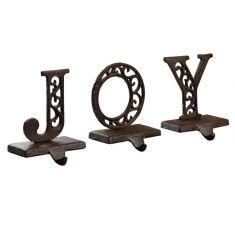 JOY Set of 3 Christmas Stocking Holders