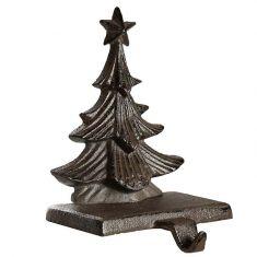 Cast Iron Tree Christmas Stocking Holder