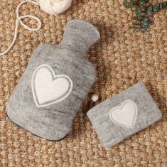 Fair Trade 100% Wool Hot Water Bottle Cover and Pouch