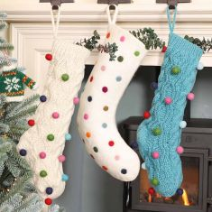 Fair Trade Polka Dot Christmas Stockings
