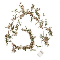 Copper Mistletoe Light Up Christmas Garland