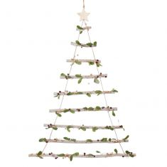 Decorative Mistletoe Christmas Tree Ladder