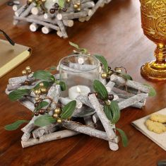 Amber and Copper Christmas Centerpieces