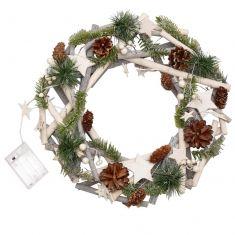 Winter Sparkle Light Up Christmas Wreath 16