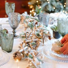 Nordic Forest Tablescape
