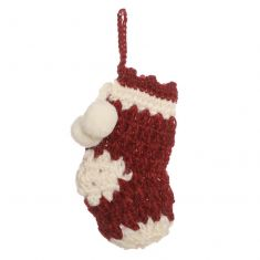 Fairtrade Mini Knitted Stocking Hanging Christmas Decoration