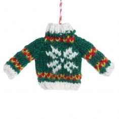 Fair Trade Knitted Snowflake Jumper Decoration