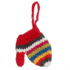 Fair Trade Knitted Mitten Christmas Decoration