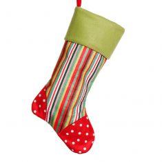 Bright Candy Stripe Christmas Stocking