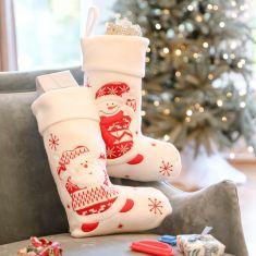 White Christmas Children's Stockings
