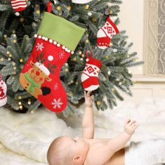 Baby's First Rudolph Christmas Stocking