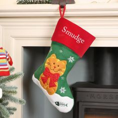 Personalised Pet Cat Christmas Stocking