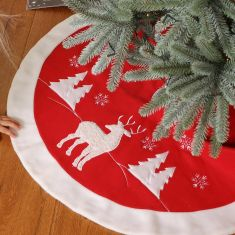 Nordic Reindeer Christmas Tree Skirt