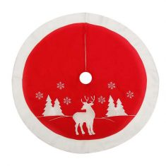 Nordic Reindeer Christmas Tree Skirt