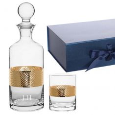 Personalised Gents Whisky Decanter and Tumbler Gift Set