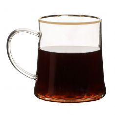 Gold Rimmed Glass Mug