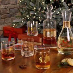 Golden Accent Glassware