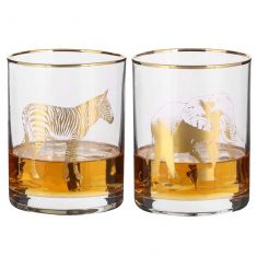 Pair of Gold Safari Drinks Tumblers