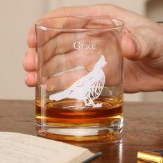 Personalised Woodland Pheasant Whisky Tumbler