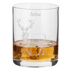 Personalised Woodland Stag Whisky Tumbler