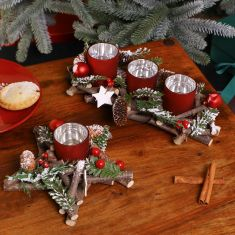 Berries and Baubles Christmas Candle Holders