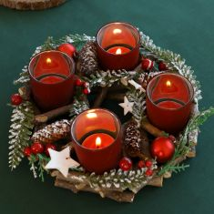 Stars and Baubles Wreath Candle Holder