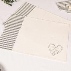 Set of 2 La Maison Bonheur Fabric Placemats