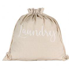 Chambray Drawstring Laundry Bag