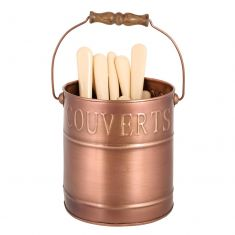 French Country Copper Cutlery Caddy
