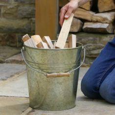 Fireside Vintage Zinc Kindling Bucket