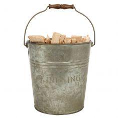 Embossed Zinc Kindling Bucket