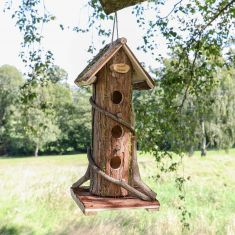 Personalised Natural Wooden Bark Bird House