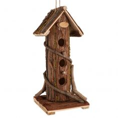 Natural Wooden Bark Bird House