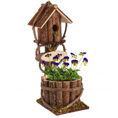 Wooden Plant Pot Bird House