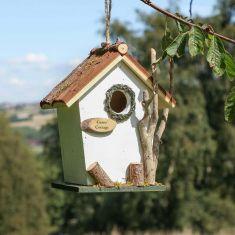 Personalised Alice White Hanging Bird House