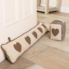 Herringbone Tweed Heart Draught Excluder and Door Stop