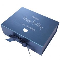 Personalised A4 Navy Blue Gift Box
