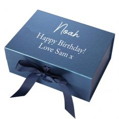 Personalised A5 Navy Blue Gift Box
