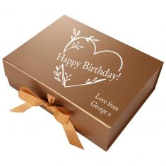 Personalised A4 Bronze Gift Box
