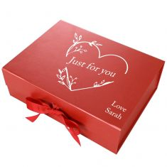 Personalised A4 Red Gift Box