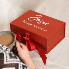 Personalised A5 Red Gift Box