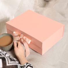 A4 Pink Ribbon Tied Gift Box